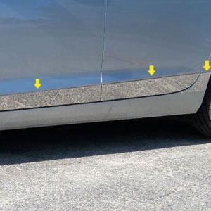 Cadillac ATS Chrome Rocker Panel Trim (lower door) 2015, 2016, 2017