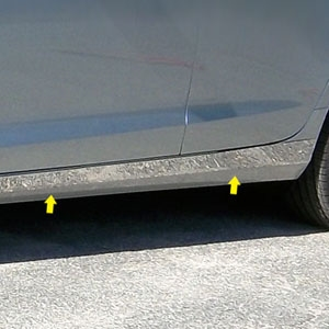 Cadillac ATS Chrome Rocker Panel Trim (below door) 2013, 2014