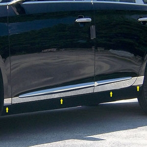 Cadillac XTS Chrome Rocker Panel Trim (lower door) 2013, 2014, 2015, 2016