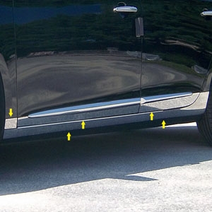 Cadillac XTS Chrome Rocker Panel Trim (lower and below door), 10pc. Set, 2013, 2014, 2015, 2016, 2017