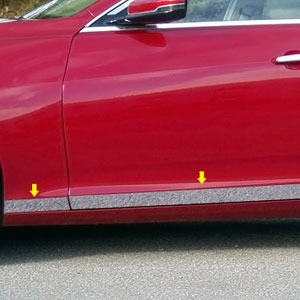 Cadillac CTS Sedan Chrome Rocker Panel Trim (lower door), 2014, 2015, 2016