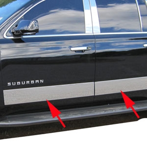 Chevrolet Suburban Chrome Rocker Panel Trim, 2015, 2016, 2017