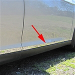 Ford Focus Sedan Chrome Rocker Panel Trim (lower door), 2015, 2016, 2017, 2018