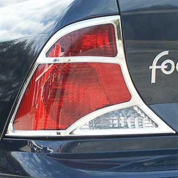 Ford Focus Chrome Tail Light Bezels, 2pc  1999 - 2004