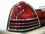 Mercury Grand Marquis Chrome Tail Light Bezels, 2003, 2004, 2005, 2006, 2007, 2008, 2009, 2010, 2011