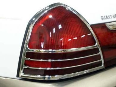 Mercury Grand Marquis Chrome Tail Light Bezels 2003 2004