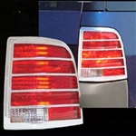 Ford Explorer Chrome Tail Light Bezels, 2002, 2003, 2004, 2005, 2006, 2007, 2008, 2009, 2010