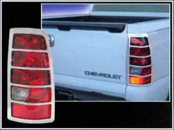 2003-2006 GMC Sierra Chrome Tail Light Bezels