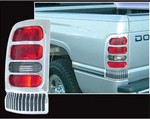 1994-2001 Dodge Ram Chrome Tail Light Bezels