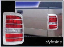 Ford F150 Styleside Chrome Tail Light Bezels, 2004, 2005, 2006, 2007, 2008