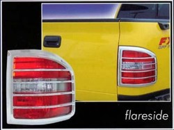 Ford F150 Flareside Chrome Tail Light Bezels, 2004, 2005, 2006, 2007, 2008