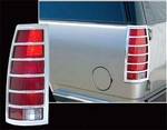 Cadillac Escalade Chrome Tail Light Bezels, 1999, 2000, 2001