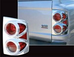 2005-2007 Dodge Dakota Chrome Tail Light Bezels