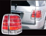 2004-2006 Lincoln Aviator Chrome Tail Light Bezels