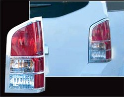 Nissan Pathfinder Chrome Tail Light Bezels, 2005, 2006, 2007, 2008, 2009, 2010, 2011, 2012