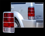2007-2009 Dodge Nitro Chrome Tail Light Bezels