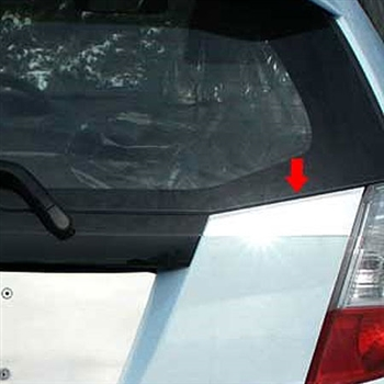2009 - 2013 Honda Fit Stainless Steel Trunk Accent Trim (2pc)