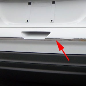 Ford Escape Chrome Tailgate Accent Trim, 2013, 2014, 2015, 2016, 2017, 2018