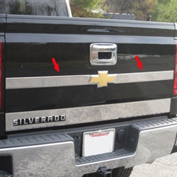 Chevrolet Silverado Chrome Upper Tailgate Logo Extension Trim, 2014, 2015, 2016, 2017, 2018