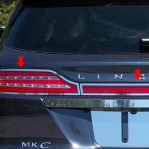 Lincoln MKC Chrome Tail Light Surround Trim, 2015, 2016, 2017