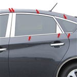 Toyota Prius Chrome Window Trim Package, 2010, 2011, 2012, 2013, 2014, 2015