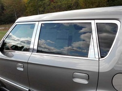 Kia Soul Chrome Window Trim Package - 20pc, 2010 - 2013