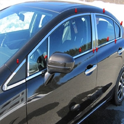 Honda Civic Sedan Chrome Window Package, 2012, 2013, 2014, 2015