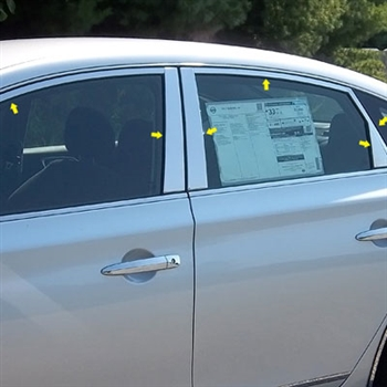 Nissan Sentra Chrome Window Package, 2013, 2014, 2015, 2016, 2017