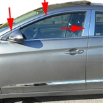 Hyundai Elantra Chrome Window Trim Package, 2017, 2018