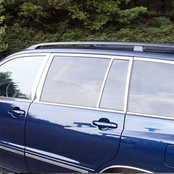 Toyota Highlander Chrome Window Trim Package, 22pc. Set,  2001, 2002, 2003, 2004, 2005, 2006, 2007