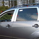 Mitsubishi Outlander Chrome Window Trim Package, 10pc  2007 - 2009