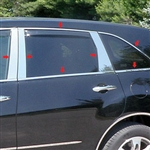 Acura MDX Chrome Window Trim Package, 2007, 2008, 2009, 2010, 2011, 2012, 2013