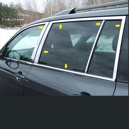Toyota Highlander Chrome Window Trim Package 14pc Set