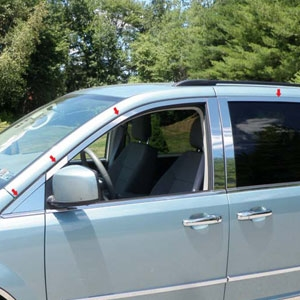 Chrysler Town & Country Chrome Window Trim Package, 2008, 2009, 2010, 2011, 2012, 2013, 2014, 2015, 2016