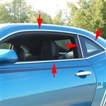Chevrolet Camaro Chrome Window Trim Package, 2010, 2011, 2012, 2013, 2014, 2015