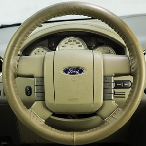 Ford Crown Victoria Leather Steering Wheel Cover by Wheelskins