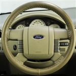 Ford Focus Leather Steering Wheel Cover by Wheelskins
