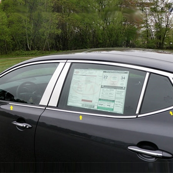 Kia Optima Chrome Window Sill Trim, 2011, 2012, 2013, 2014, 2015