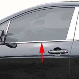 Toyota Prius Chrome Window Sill Trim, 2016, 2017