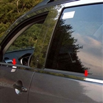 Mitsubishi Outlander Chrome Window Sill Trim, 4pc  2007 - 2009