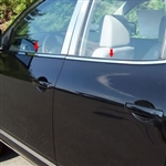Nissan Rogue Chrome Window Sill Trim, 2008, 2009, 2010, 2011, 2012, 2013