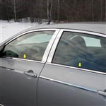 Toyota Corolla Chrome Window Sill Trim, 4pc. Set, 2009, 2010, 2011, 2012, 2013