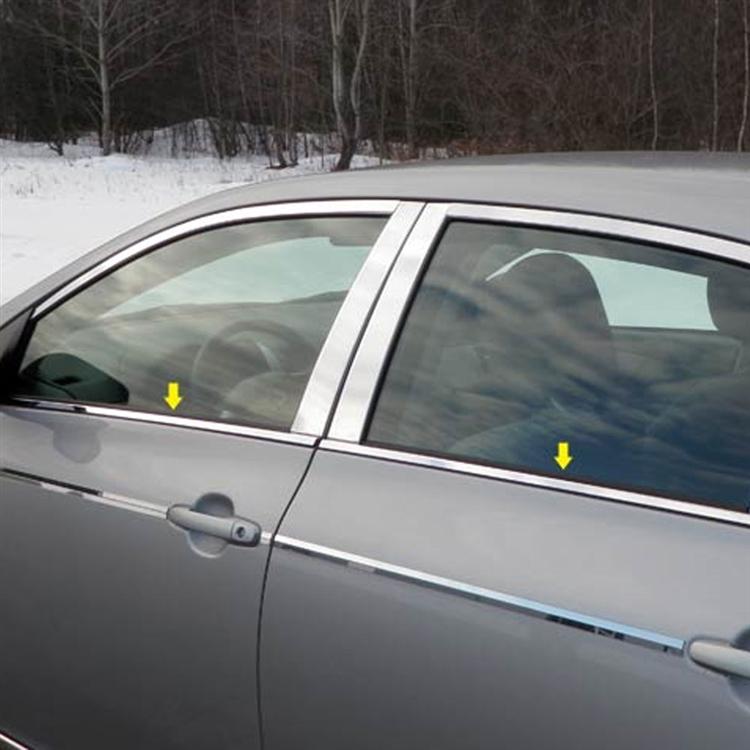 Toyota Corolla Chrome Window Sill Trim 4pc Set 2009