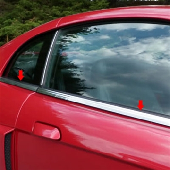 Ford Mustang Chrome Window Sill Trim. 1999 - 2004