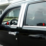 Dodge Nitro Chrome Window Sill Trim, 4pc  2007-2011