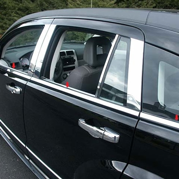 Dodge Caliber Chrome Window Sill Trim, 6pc  2007 - 2012