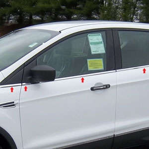 Ford Escape Chrome Window Sill Trim, 2013, 2014, 2015, 2016, 2017