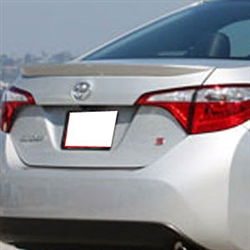 Toyota Corolla Lip Mount Painted Rear Spoiler, 2014, 2015, 2016, 2017