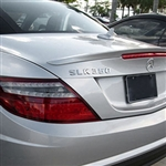 Mercedes SLK Lip Mount Painted Rear Spoiler, 2012, 2013, 2014