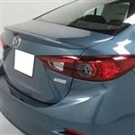 Mazda 3 Lip Mount Painted Rear Spoiler, 2014, 2015, 2016, 2017, 2018